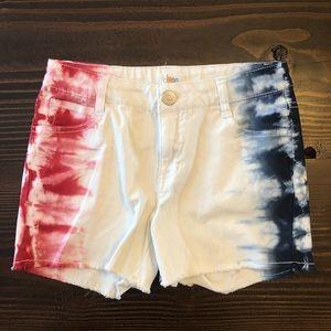 Girls Large Americana Tie Dye Shorts